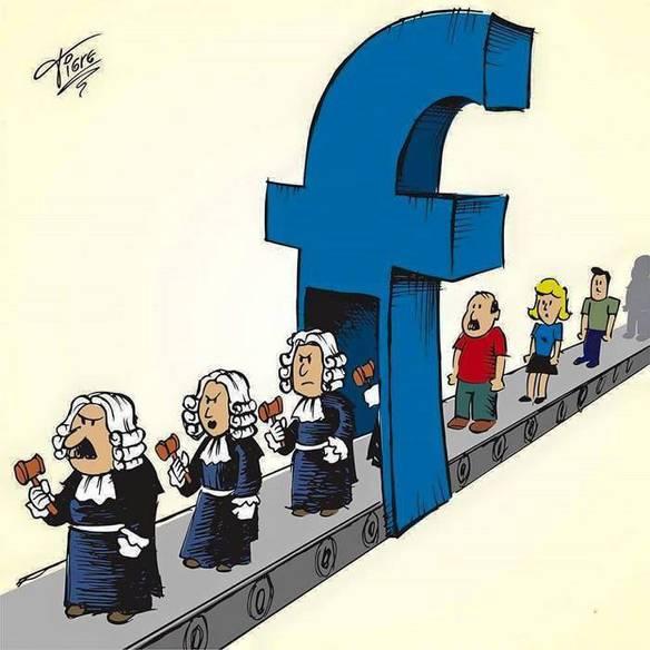 Enquanto Isso no Facebook - Imagens de Charges
