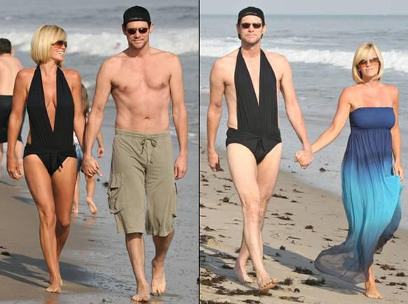 Jim Carrey e Moda Praia
