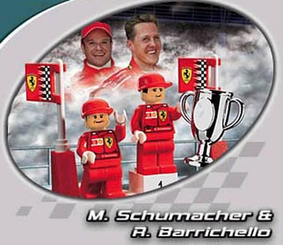 Lego do Schumacher e Barrichello