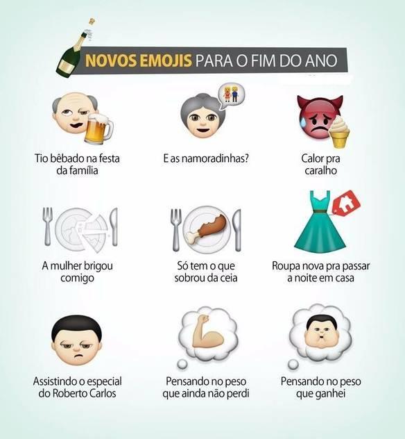 Novos Emojis Para o Fim do Ano