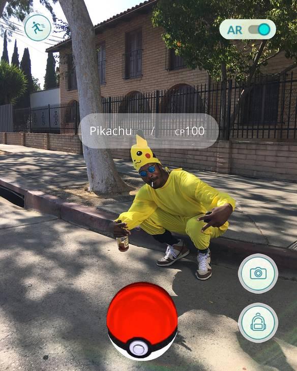 Capturando um Pikachu